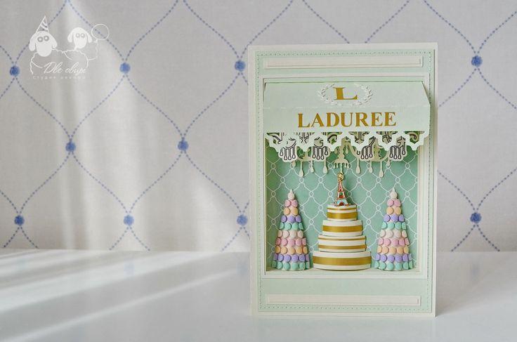 Открытка-витрина Laduree - Alla Grezeva Бумажные истории