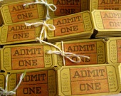 admit one tickets - love the mustard colorStyle Admit, Mustard Colors, Birthday Parties, Admit One, Carnivals Style, Parties Ideas, Carnivals Fair, Admittance Ticket, Vintage Carnival