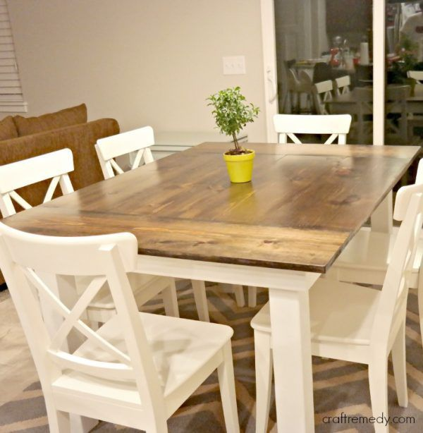 40 free diy farmhouse table plans to give the rustic feel to your dining room farmhouse table on farmhouse kitchen table diy id=58222