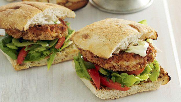 Cajun spiced chicken burgers recipe - 9Kitchen
