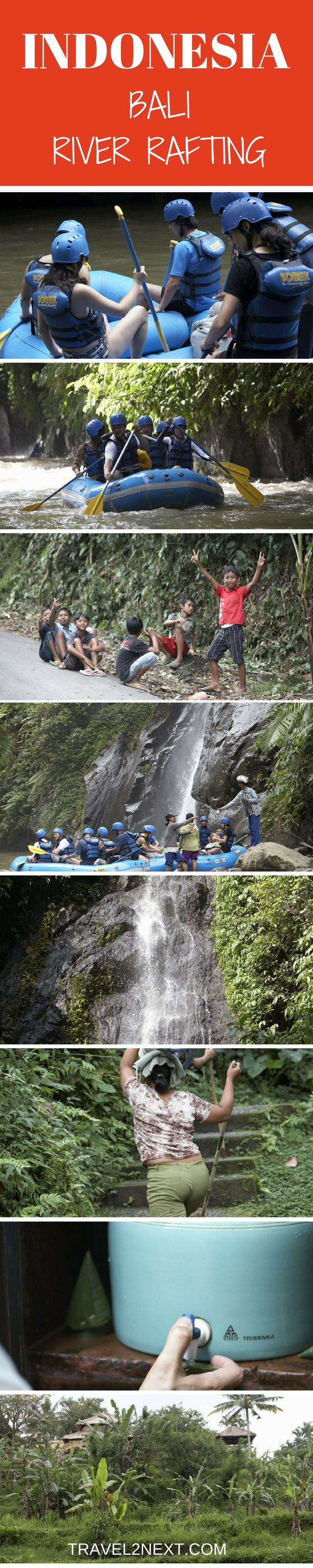 Ayung River Rafting, Bali adventure. The screams grow louder as I descend through the lush tropical rainforest towards the river.