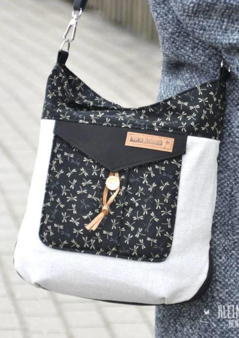 Sew on a playful lady's handbag