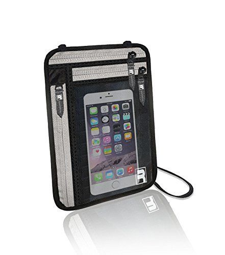 RFID Passport Holder Neck Wallet Travel Stash Hidden Pouch Money Safe Bag Case ** Click image to review more details.