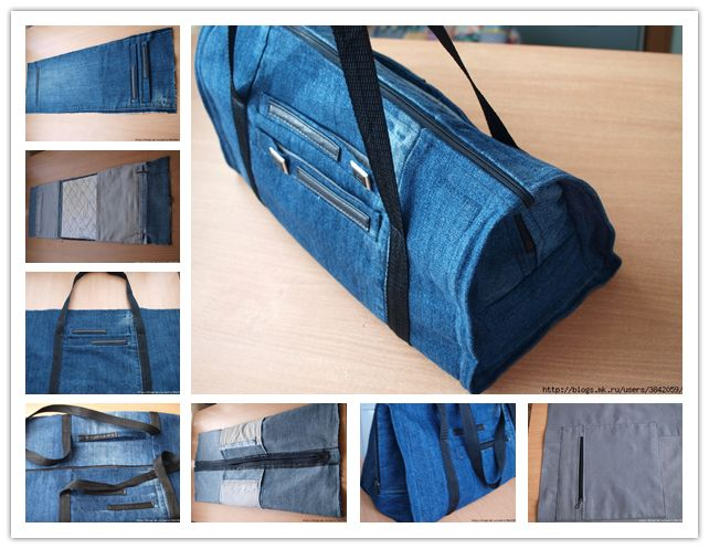 How to sew DIY handbags with recycled jeans step by step tutorial instructions