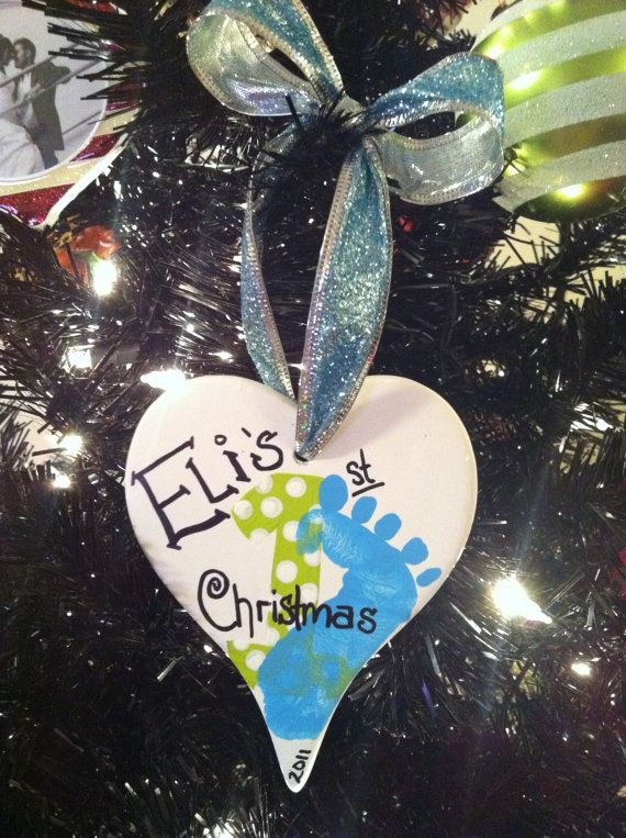 1st christmas: Baby Emily Ideas, 1St Christmas And, Crafts Ideas, Baby 1St Christmas Ornaments, Babys 1St Christmas, Ada Baby, Christmas Ideas, 1St Christmas Oh, 1St Christmas Thi