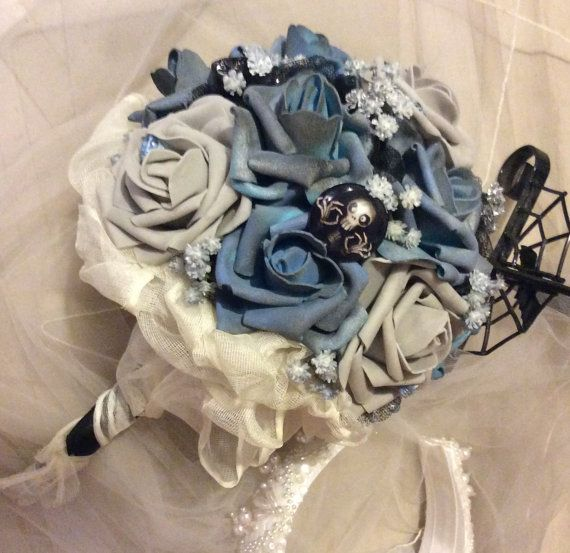 CORPSE BRIDE Wedding Bouquet-Tim by ModernWeddingTrends on Etsy
