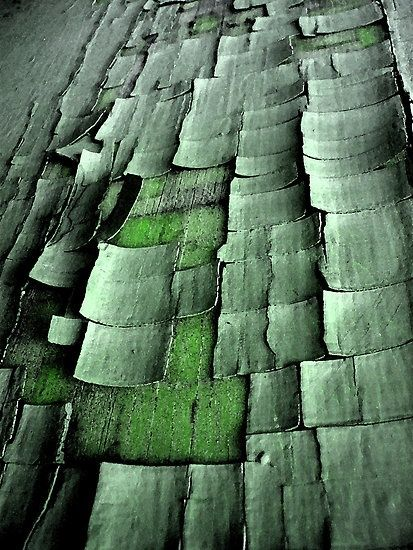 chipped green paint) - R_22.01.2014