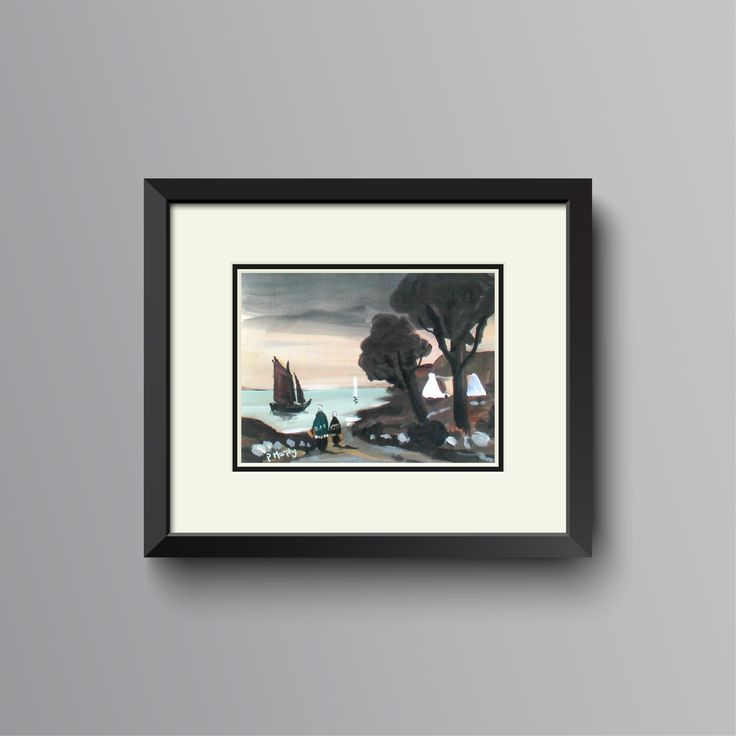 The Road Home by Patrick Murphy, a framed print on linen backed paper of an original oil painting, almost like the real thing!