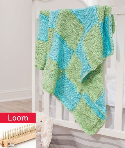 Loom Knitting Free Patterns : Hearts blanket free loom knitting pattern lm diy