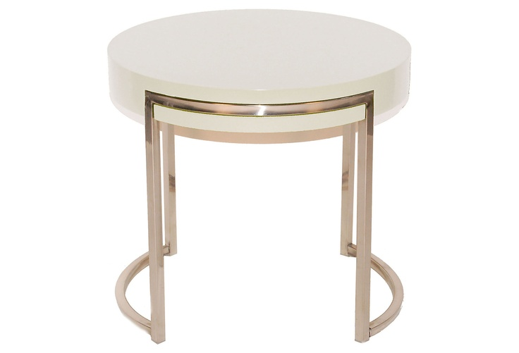 PANGEA - Riso Side Table, White