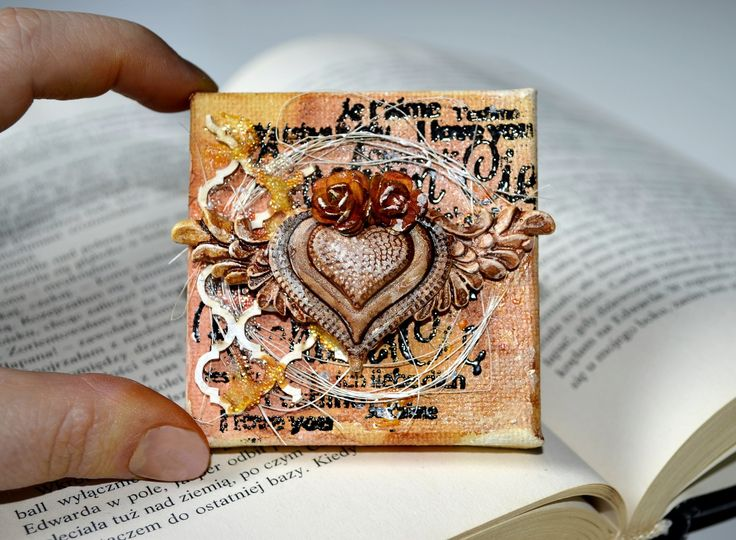 Mini canvas mixed-media video tutorial - OBiels02 by Świat Stempli