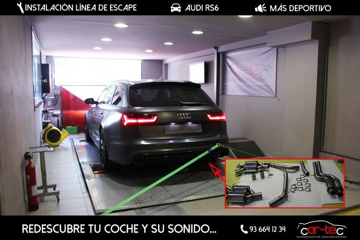 Audi RS6 de Isaac Tutumlu en nuestro banco de pruebas en Car-tec Automotive. Vino a cambiarse la línea completa de escape, y también reprogramó el vehículo!