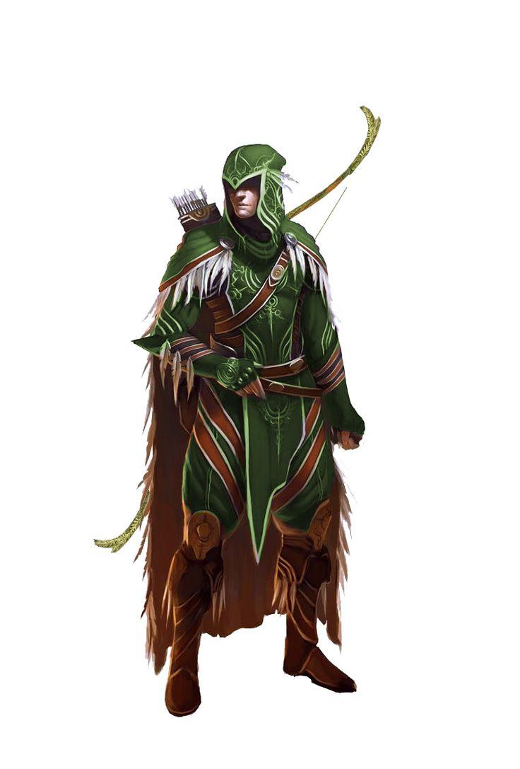 archer fighters for dampd pinterest hunters wood elf