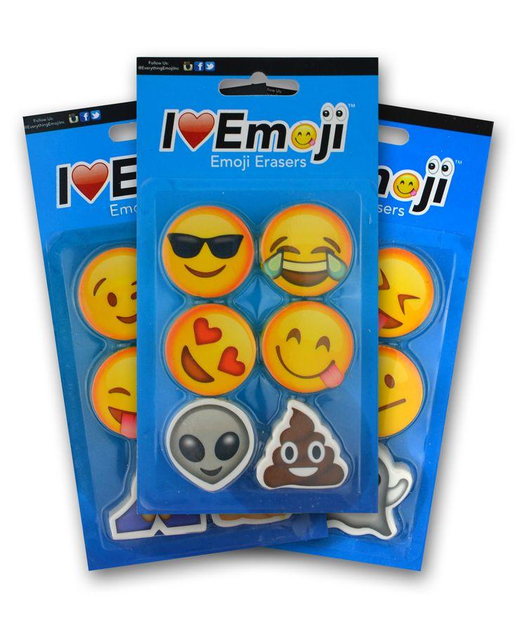 Emoji Eraser 3 Pack (Set 1)