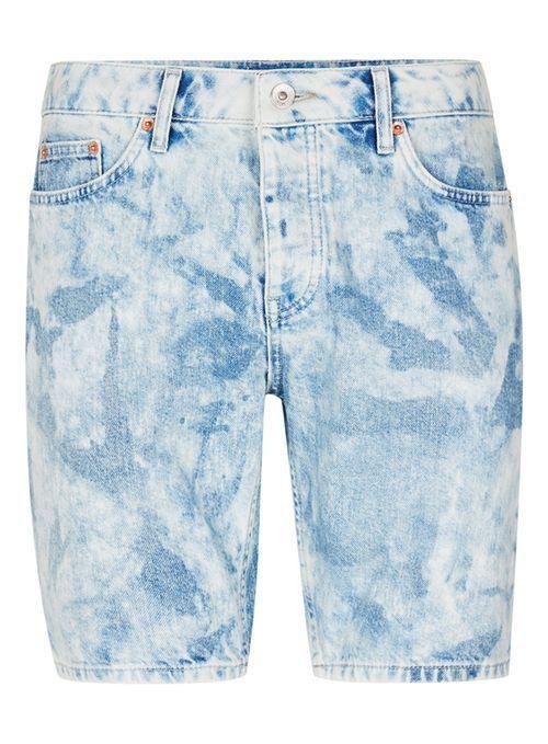 Bleach Wash Blue Slim Denim Shorts - Men's Shorts & Swimshorts - Clothing - TOPMAN EUROPE