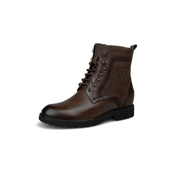 Height increasing chukka boot for men 7cm / 2.8inch black elevator... via Polyvore featuring men's fashion, men's shoes, men's boots, mens chukka shoes, mens shoes, mens chukka boots, mens black chukka boots and mens black shoes