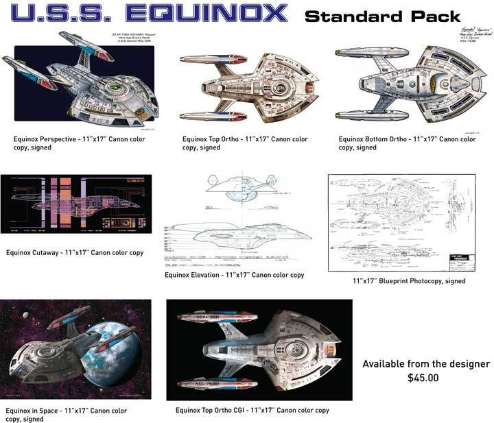 USS Equinox sketch pack from the collection of Rick Sternbach