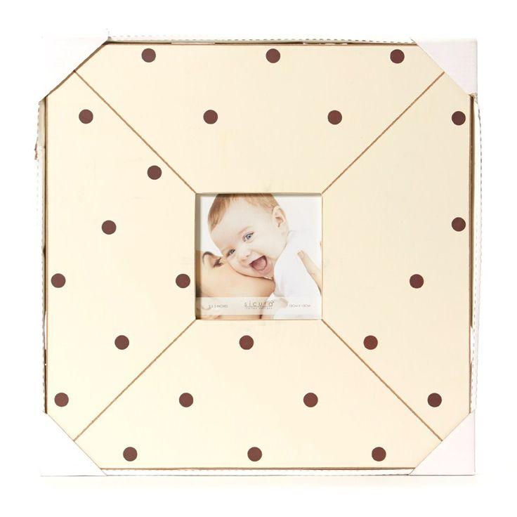 Polka Dot Frame - Cream
