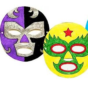 these mexican wrestling masks are a fun craft for kids to get into the spirit of - Fun Kids Pictures