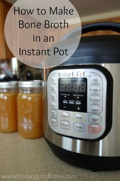 Learn how easy it is to make bone broth in an Instant Pot | This is so good...