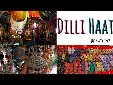 Dilli Haat Shopping Tour - Delhi Handicraft Market is a shopping place in Delhi where handicraft exhibition is held. It is one of the places or things to see in Delhi which offers good food and shopping. Junk Jewelry,ethnic kurtis, Indian accessories are available in abundance there.  How to Reach Dilli Haat? Just get down at INA market and is in walkable distance from INA metro. Also Sarojini nagar market is nearby.  Dilli Haat Opening hours? Dilli Haat is open all days from 10 AM to 10 PM.
