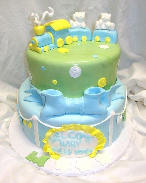 Train Baby Shower Cake Part - 36: Sweet Mischief Ja Cake Ideas Little Train Baby Shower Cakepins.com