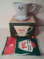 Melitta Kaffeefilter 102 3 Loch OVP 2 x benutzt wie neu Porzellan Filterkaffee