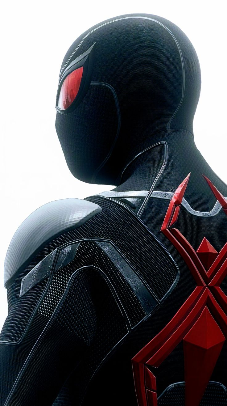 spiderman black and red - 736×1314