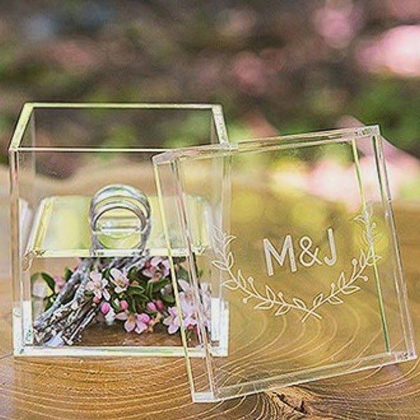 monogrammed box with floral compartment