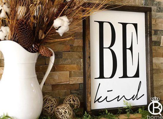 Custom handmade framed wood signs.