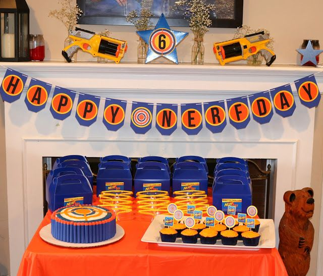 Invite and Delight: Nerf Gun Party