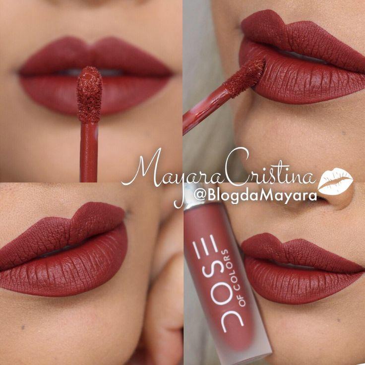 Batom BRICK da marca Dose Of Colors. Vermelho. Red. Lipstick. Makeup. Maquiagem. Por @BlogdaMayara                                                                                                                                                                                 Mais