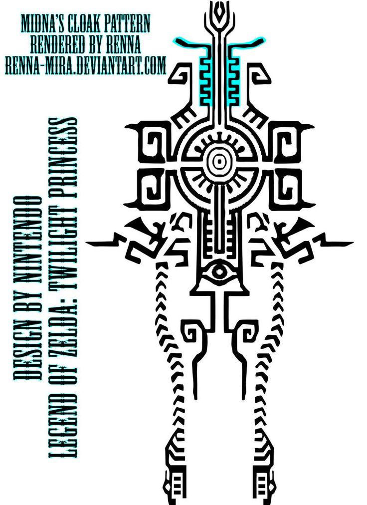 Midna Cloak Design by Renna-Mira on DeviantArt-her deviant art has lots of Midna patterns