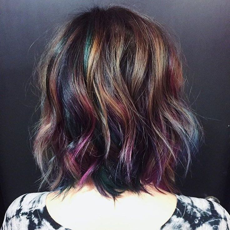 Mesmerized by this oil slick color by @hairbykotay. Use #modernsalon and show us YOUR color creations! by modernsalon You can follow me at @JayneKitsch