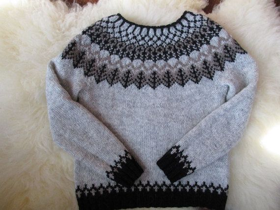 Woodland Icelandic Sweater / Lopapeysa ash lett by Waysofwoodfolk