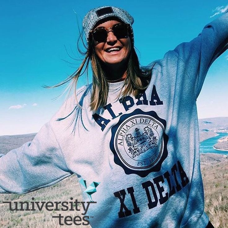go outdoors! | Alpha Xi Delta | Made by University Tees | universitytees.com