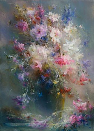 Картина с полевыми цветами «Симфония красок»