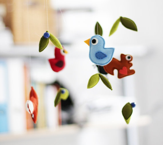 felt mobileFriends Felt, Baby Mobiles, Birds Mobiles, Felt Stuffed Animal, Kids Baby, Felt Birds, Felt Mobiles, Baby Boy, Mobiles Sewing