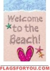 Welcome to the Beach Garden Flag