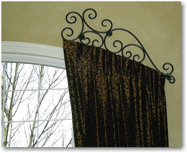 find this pin and more on drapery hardware - Decorative Curtain Rods