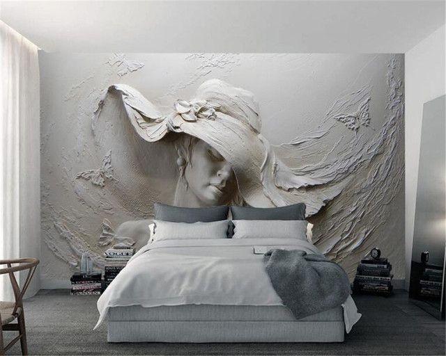 Beibehang Özel 3D Duvar Kağıdı Stereo Kabartma Güzellik Arka Plan Duvar Oturma Odası Yatak Odası TV Arka Plan duvar kağıdı duvarlar için 3 D