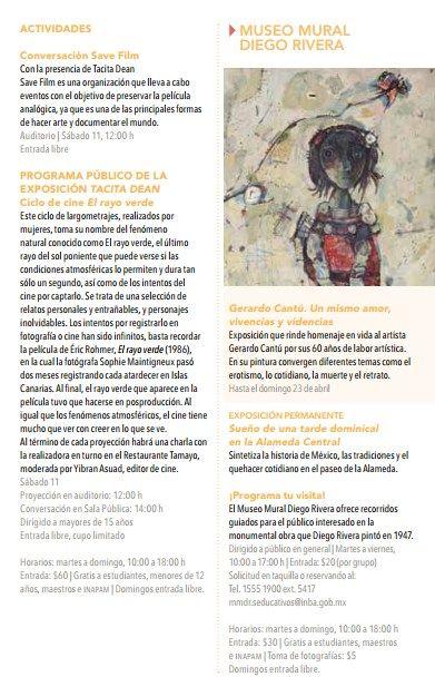 Cartelera DF: Agenda del Arte 2017: Museos, Literatura y Arte para Niños