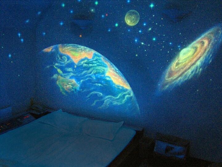 Glowing Planet wallpaper for kids or Teenagers bedroom :D - popculturez.com