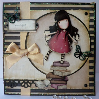 Janes Lovely Cards : Mojo Monday meets another Gorjuss decoupage and an award!