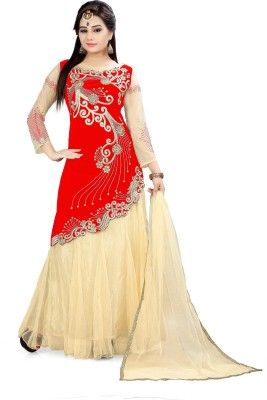 28f1f77574 Yogi Fashion Embroidered Women's Ghagra, Choli, Dupatta Set(Stitched ...