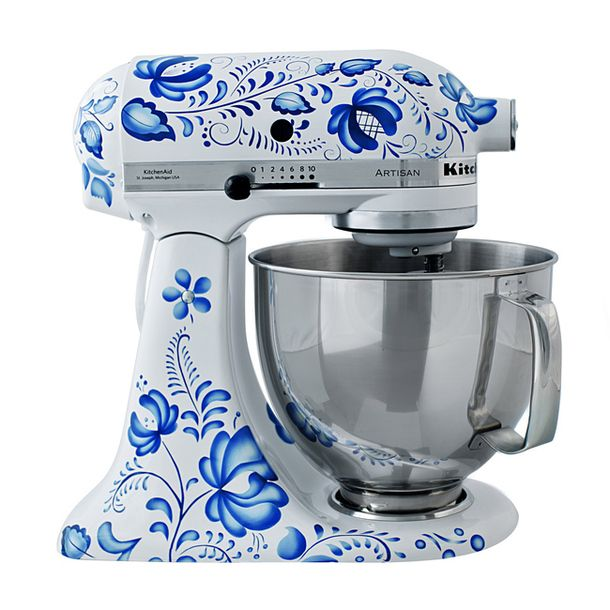 Pretty Kitchen Aid in white and Blue ~