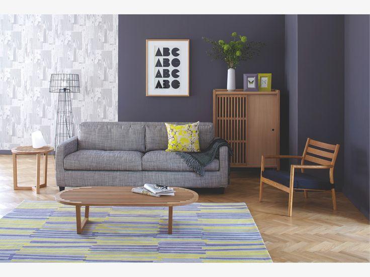 EMLYN GREYS Fabric Viscose Mix Fabric 3 Seat Sofa   3 Seat Sofas  HabitatUK    New Room   Pinterest   Grey, Products And Grey Fabric