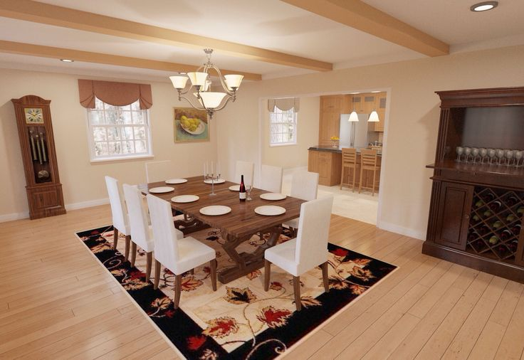 In This Dining Room The Duplicate Feature Made It Very Easy To Create Multiples Of Objects Like Wine Glasses Bottles And Plates