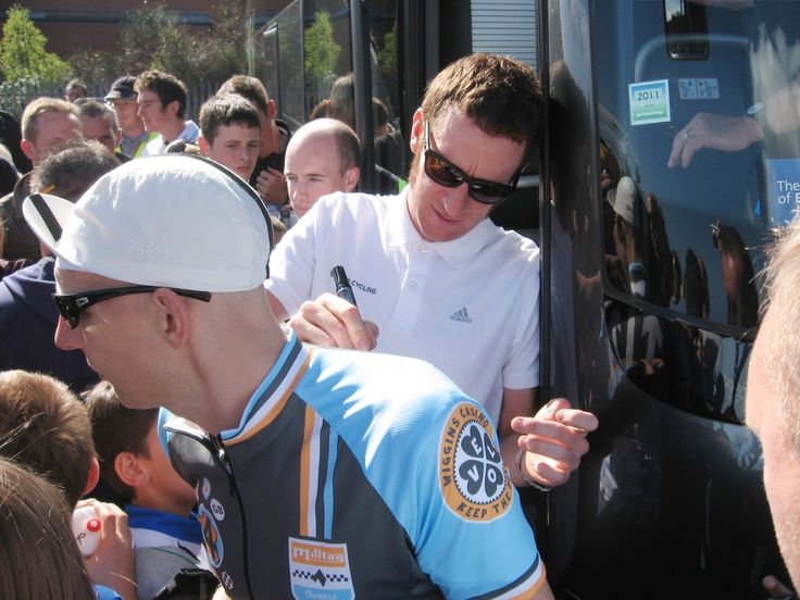 Mark gets his Wiggo signed by the man himself