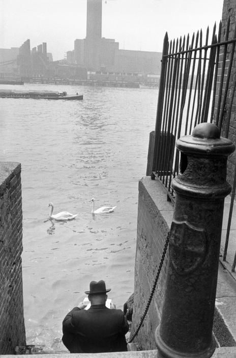 Henri Cartier-Bresson - GB. London. 1955. Bankside Power Station on the south bank of the Thames
